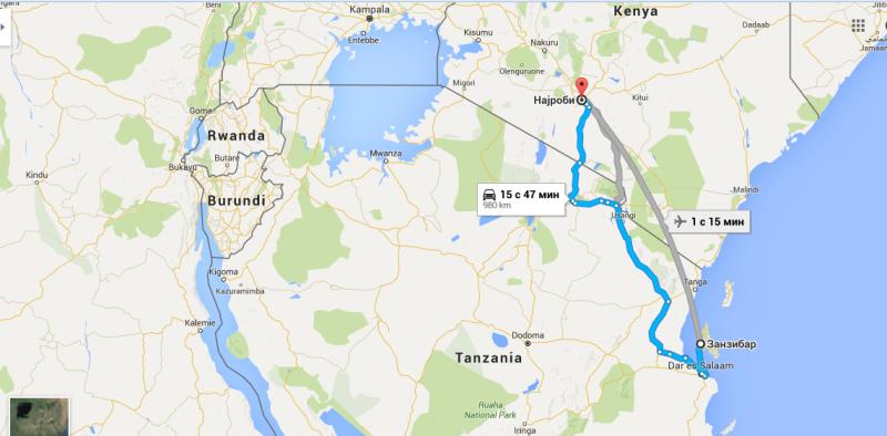 Putovanje ZN-Najrobi